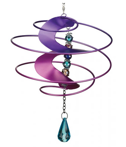 Fantasia Hanging Wind Spinner - Purple