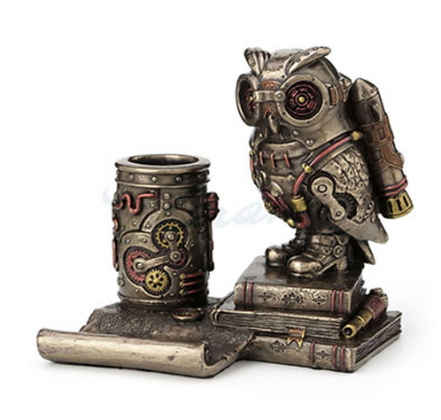 Steampunk Owl Cell Phone Stand