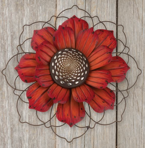 Red Flower Stake / Wall Decor