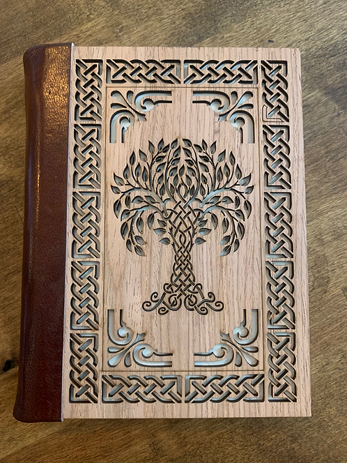 Old World Journal - Tree of Life Wood Carving