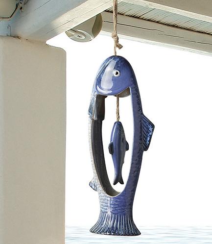 Fish Duo Ceramic Wind Chime