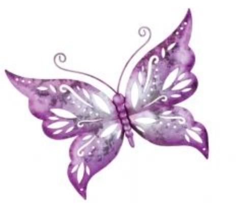 Capri Purple Butterfly Wall Decor