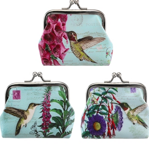 Clasp Coin Purses (Dragonfly or Hummingbird)