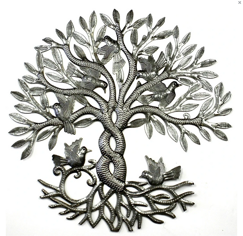 Entwined Tree of Life Haitian Metal Drum