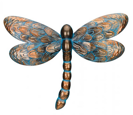 Patina Dragonfly Wall Decor