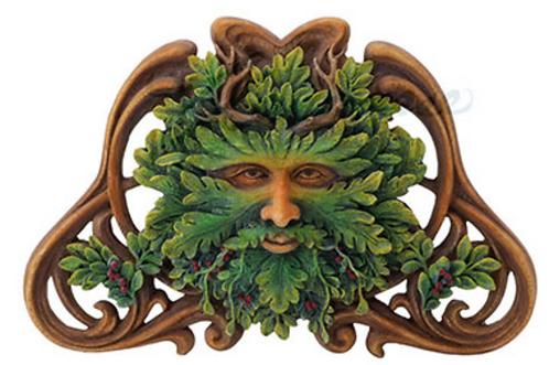 Green Man: Mistletoe Wall Plaque