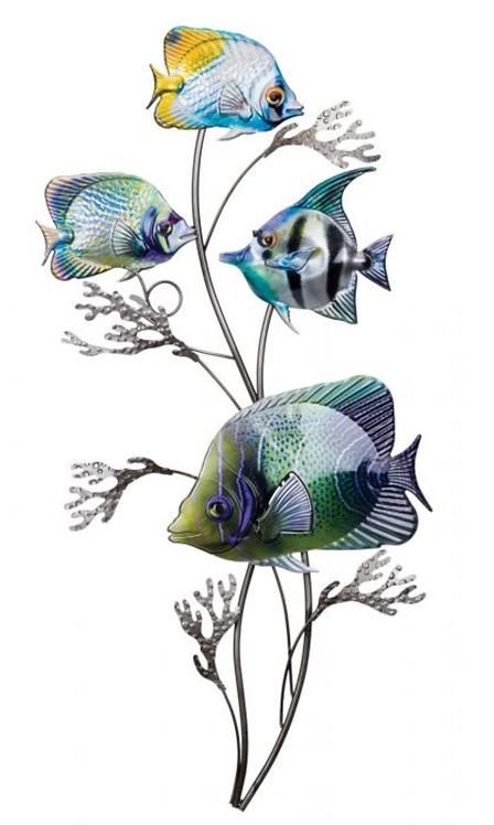 Vertical Fish Metal Wall Art