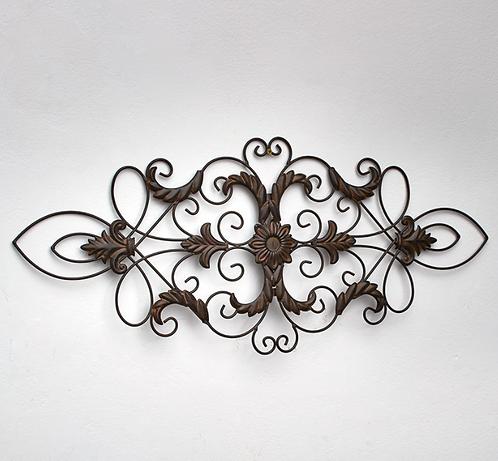 Filigree Metal Wall Art in Rustic Brown or Teal