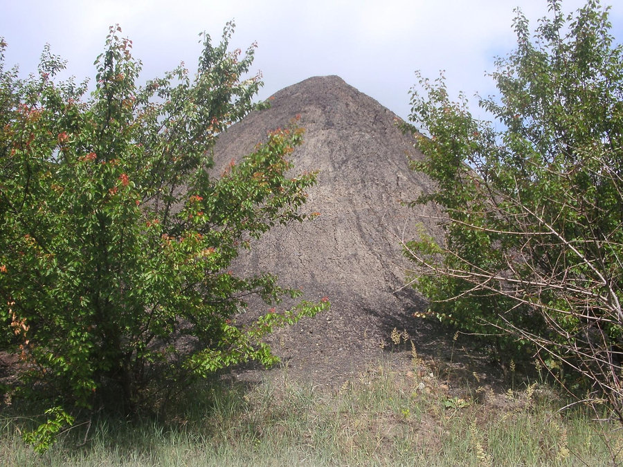 Остатки отвала породы шахты Военведа