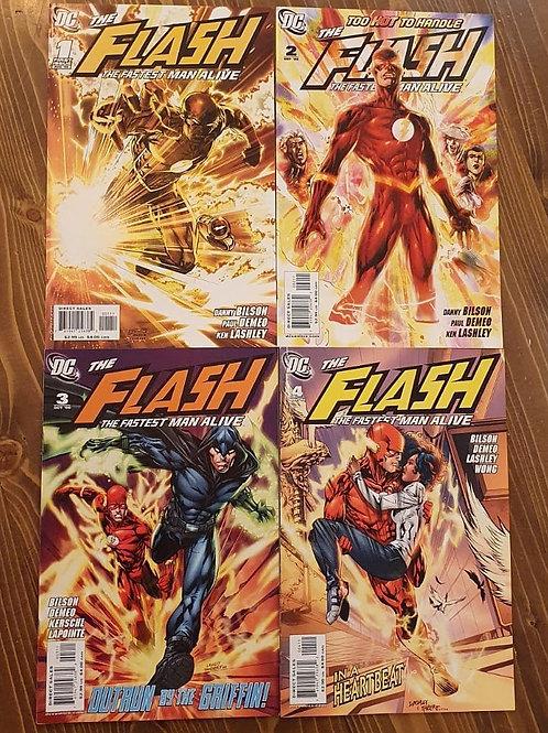 Flash the Fastest Man Alive #1-2-3-4 Set