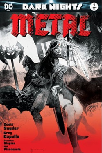 Dark Nights Metal #1 Bill Sienkiewicz Forbidden Planet Exclusive B&W Vari
