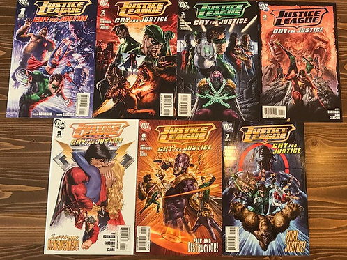 Justice League Cry for Justice #1-2-3-4-5-6-7 Tam Set