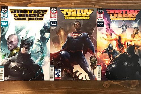 Justice League of America #27-29 Francesco Mattina Variant Set