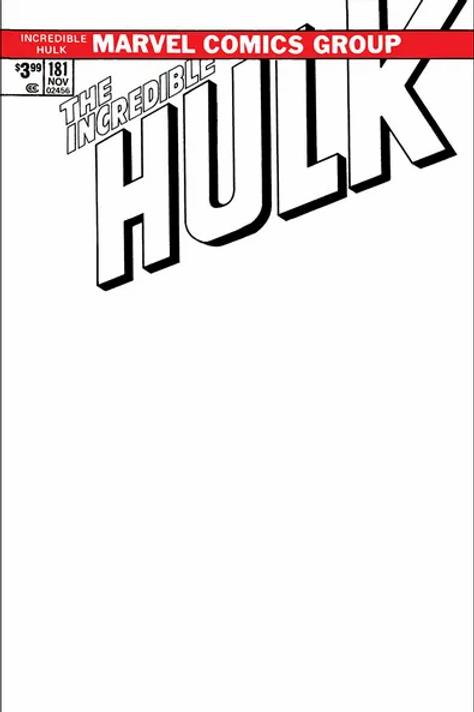 Hulk #181 Facsimile Edition Blank Cover