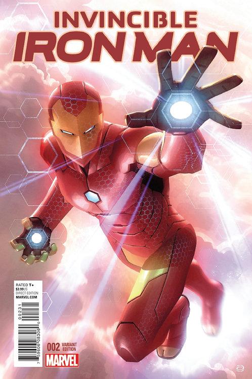 Invincible Iron Man #2 Alex Garner 1:25 Ratio Variant