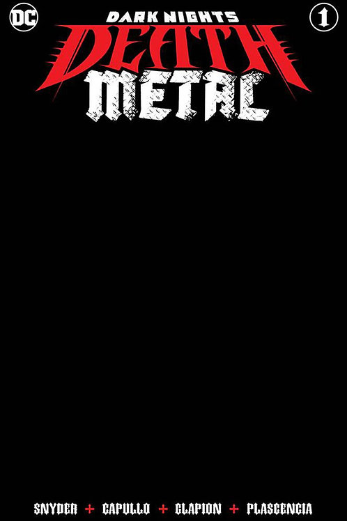 Batman Dark Nights: Death Metal #1 Black Blank Cover