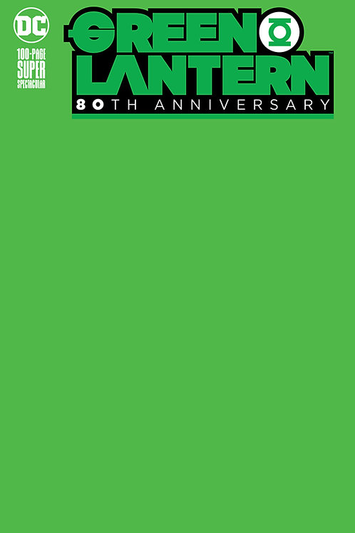 Green Lantern 80th Anniversary #1 Green Blank Cover