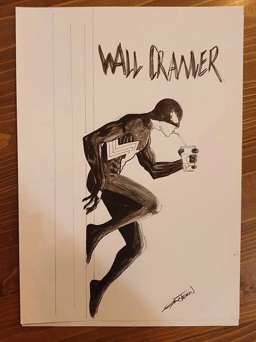 Wall Crawler Spider-Man Uğur Gürtekin A4 Boy Orijinal Sanat