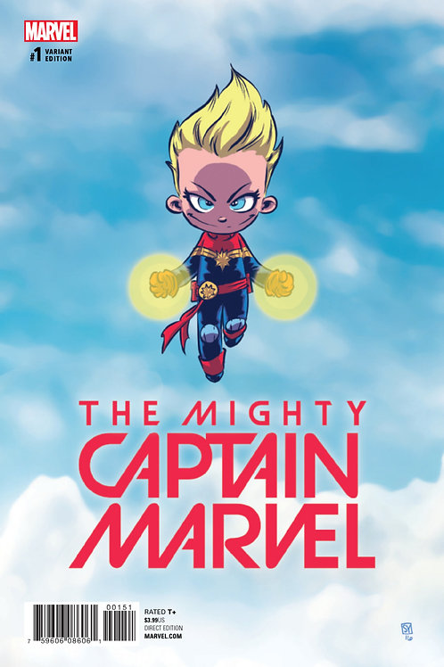 Mighty Captain Marvel #1 Skottie Young Variant