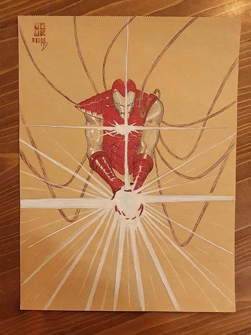 Iron Man Uğur Gürtekin A4 Boy Orijinal Sanat