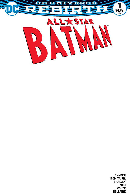 All-Star Batman #1 Blank Cover