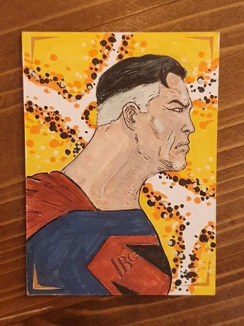 Kingdom Come Superman Uğur Gürtekin Sketch Card Orijinal Sanat