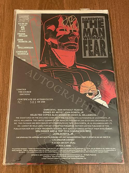 Daredevil the Man Without Fear #1 John Romita JR İmzalı