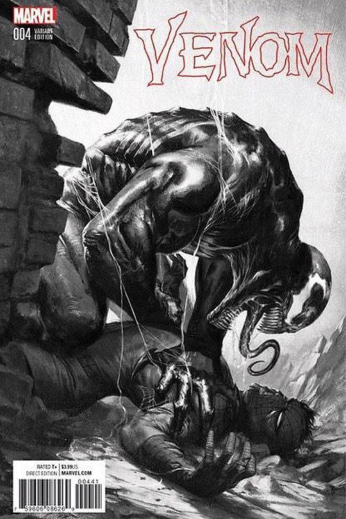 Venom #4 Gabriele Dell'Otto B&W Exclusive Variant