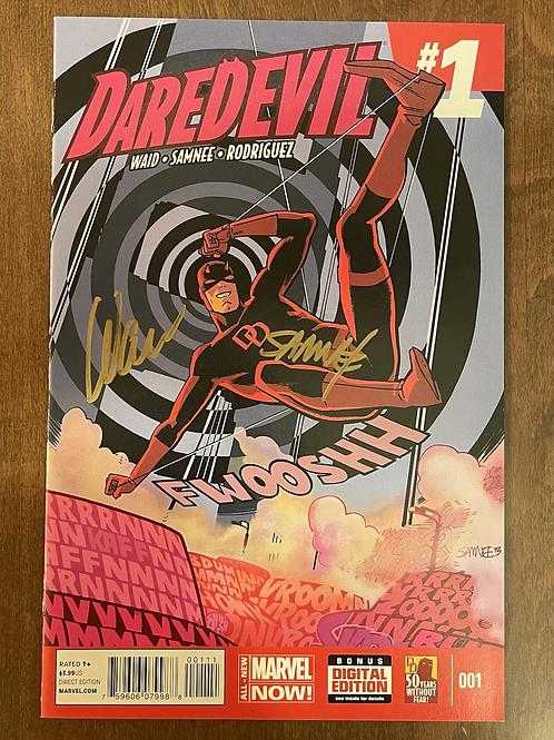 Daredevil #1 Altın Çift İmzalı