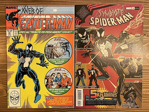 Web of Spider-Man #35 & Symbiote Spider-Man King in Black #1 Superlog Variant Se