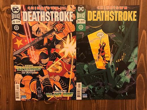 Deathstroke #28-29 Set