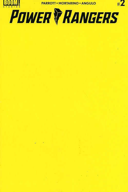 Power Rangers #2 Yellow Blank Cover