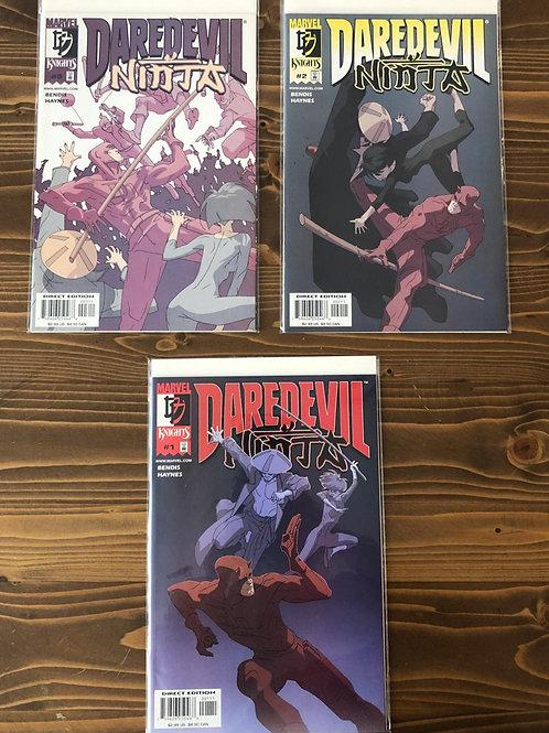 Daredevil Ninja #1-2-3 Tam Set