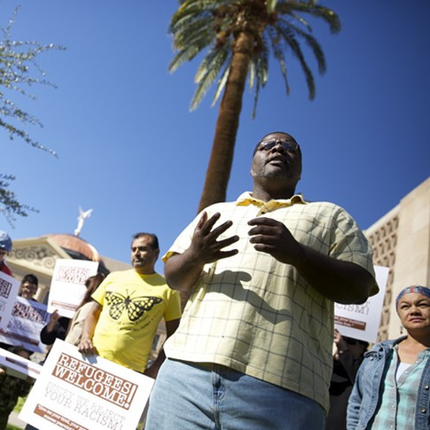 Protestors Decry Ducey's Attempt to Block Refugee Resettlement as Racist