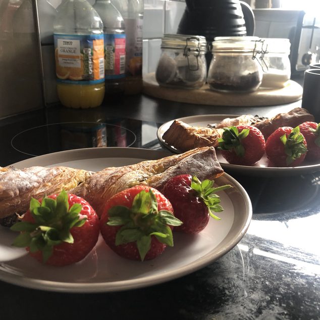 Belgian Chocolate Twists & Strawberries