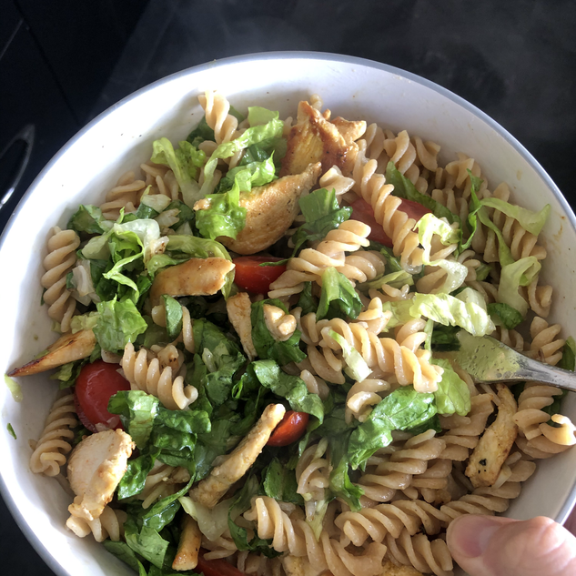 Chicken, bacon and pasta salad