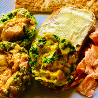 Salmon and muffin tray egg bakes