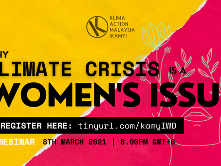 """""""Why the Climate Crisis is a Women's Issue"""", a KAMY's response to International Women's Day 2021"""