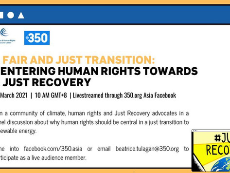 A Fair and Just Transition: Centering Human Rights Towards A Just Recovery