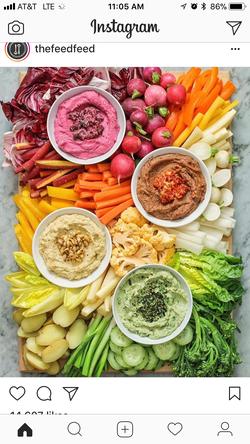 Multicolored Veggie Board