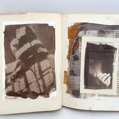 VanDykeBrown within altered book.