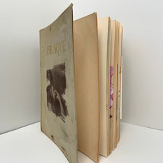 Altered book consisting of photos printed in these alternative photo processes.
