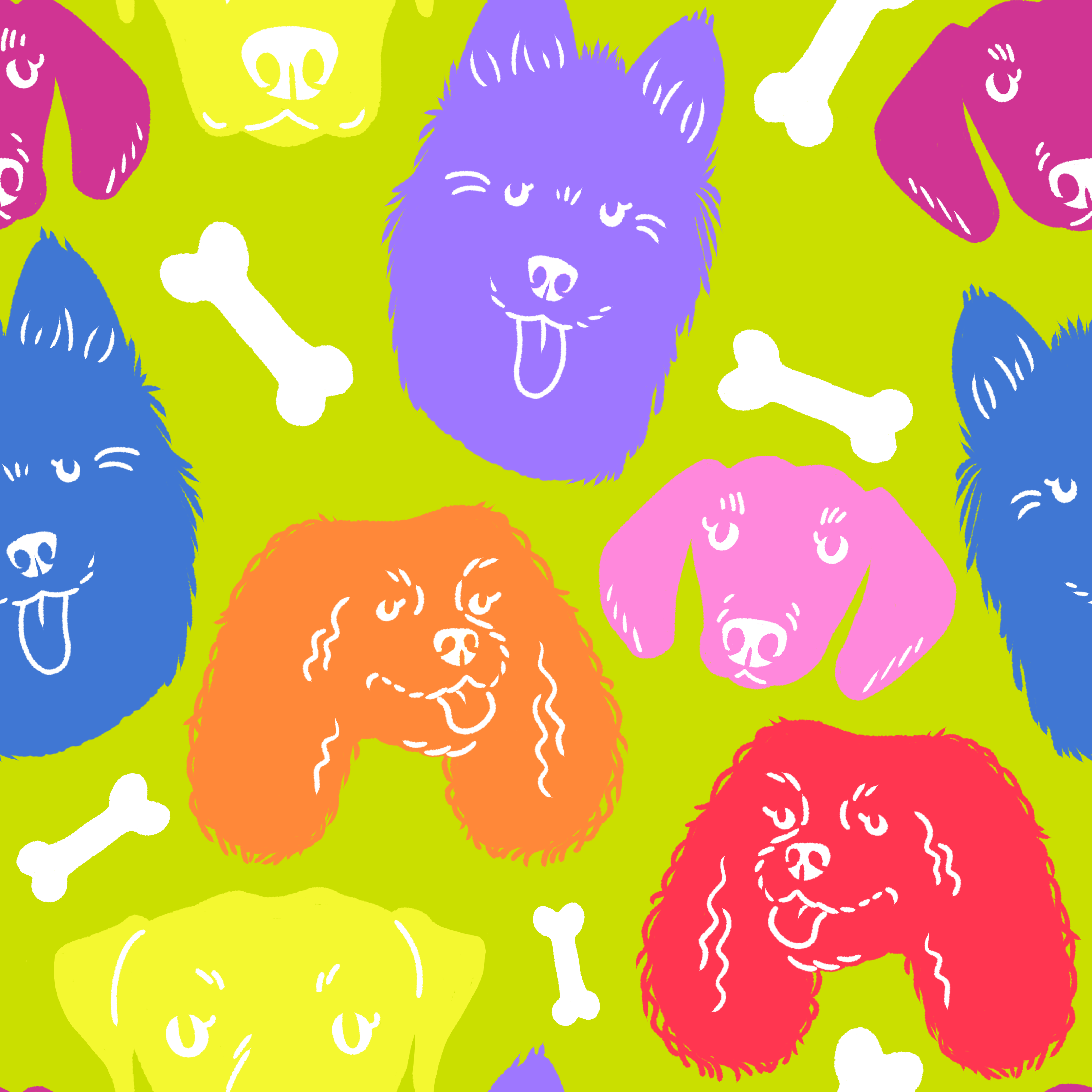 fabric pattern - doggos - original