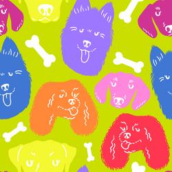 fabric pattern - doggos - original