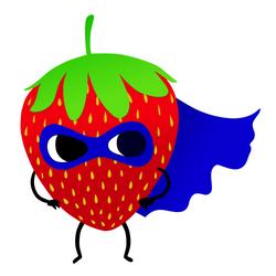 strawberry_small_white background