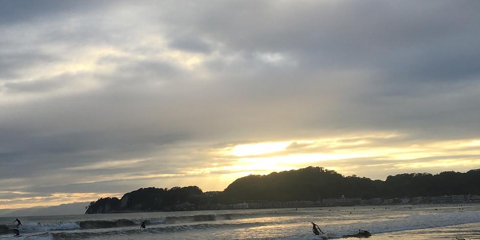 7/18(土) 鎌倉材木座ビーチでサンセットヨガ&ナチュールワインの会