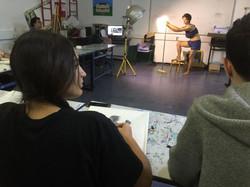 רישום מודל במגמה לאומנות