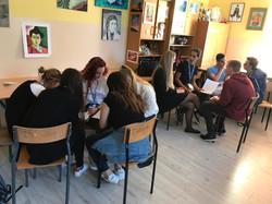 מפגש עם בני נוער פולנים
