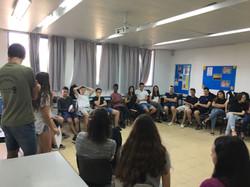 כיתות י' בפעילות עם תלמידי מכינה
