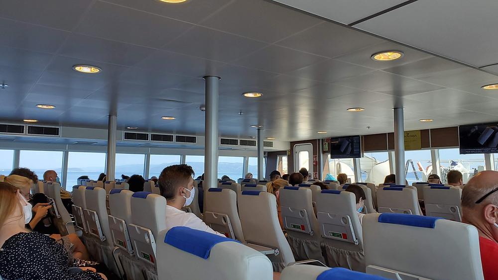 Split to Hvar passenger ferry - face masks mandatory